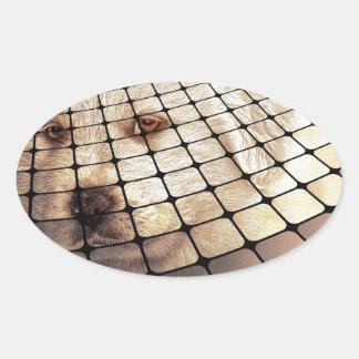Cool Dog Digital Art Oval Sticker