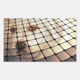 Cool Dog Digital Art Rectangular Sticker