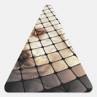 Cool Dog Digital Art Triangle Sticker