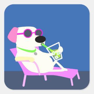 Cool Dog in Sunglasses Square Sticker
