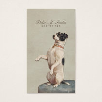 Cool Dog Trainer Vintage Animal Simple Elegant Business Card