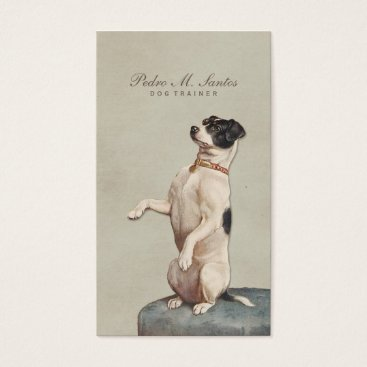 red_dress Cool Dog Trainer Vintage Animal Simple Elegant Business Card