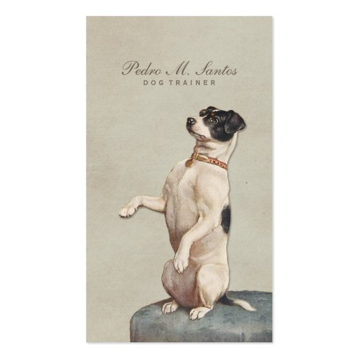 Cool Dog Trainer Vintage Animal Simple Elegant Business Card