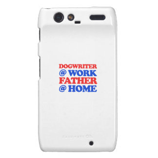 cool DOG WRITER designs Droid RAZR Covers