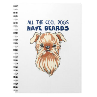 COOL DOGS HAVE BEARDS SPIRAL NOTEBOOKS