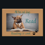 """Cool Dogs Read Literacy Poster<br><div class=""""desc"""">Fun poster to inspire reading in young children.   Perfect for a classroom,  book nook,  library/media center,  or a child&#39;s room.</div>"""
