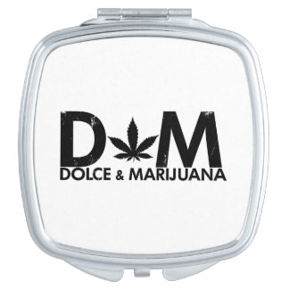 Cool Dolce & Marijuana Vanity Mirror
