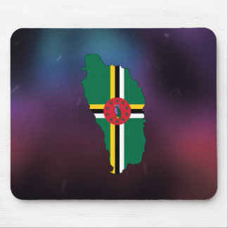 Cool dominica Flag Map Mouse Pad