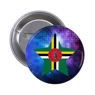 Cool Dominica Flag Star 2 Inch Round Button