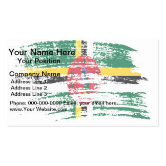 Cool Dominican flag design Business Card