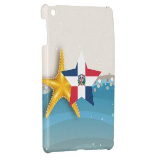 Cool Dominican Republic Flag at the Beach iPad Mini Case