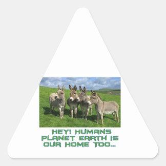 cool Donkey designs Triangle Sticker