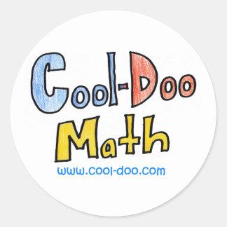 Cool-Doo Math Classic Round Sticker