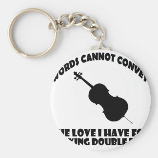 cool double bass  designs basic round button keychain