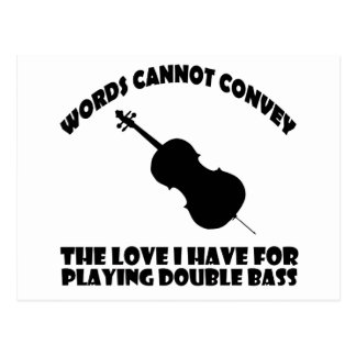 cool double bass  designs postcard