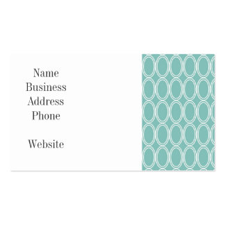 Cool Double Blue White Oval Pattern Fun Gifts Double-Sided Standard Business Cards (Pack Of 100)
