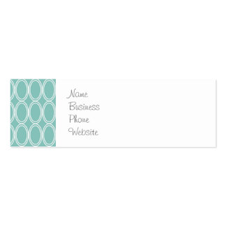 Cool Double Blue White Oval Pattern Fun Gifts Double-Sided Mini Business Cards (Pack Of 20)