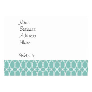 Cool Double Blue White Oval Pattern Fun Gifts Large Business Cards (Pack Of 100)