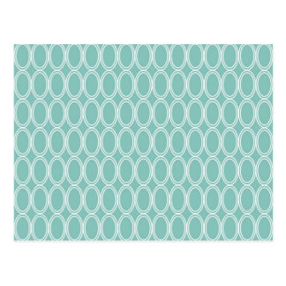 Cool Double Blue White Oval Pattern Fun Gifts Postcard