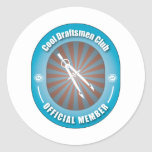 Cool Draftsmen Club Stickers