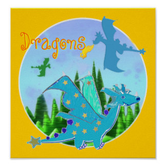 Cool Dragon Poster for Kids