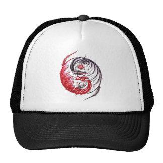 Cool Dragon Yin Yang tattoo Mesh Hats