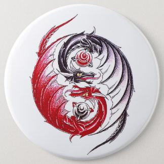 Cool Dragon Yin Yang tattoo Pinback Button