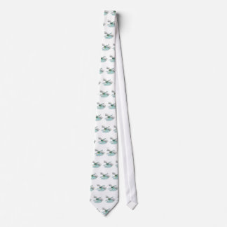 cool dragonfly on lily pad neck tie