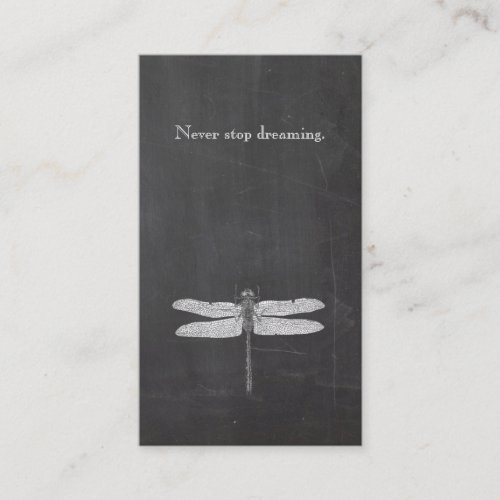 Cool Dragonfly Rustic Nature Chalkboard Business Card