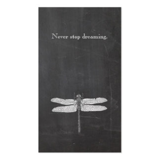 Cool Dragonfly Rustic Nature Chalkboard Double-Sided Standard Business Cards (Pack Of 100)