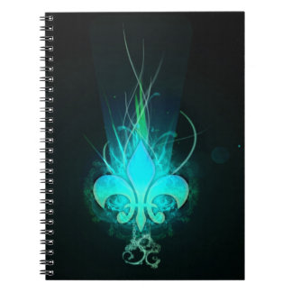 cool draw flower lis spiral notebook