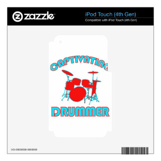 cool drum DESIGNS Decal For iPod Touch 4G