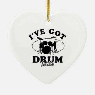 Cool drum musical instrument designs ceramic ornament