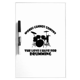 cool Drummer designs Dry-Erase Board