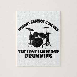 cool Drummer designs Jigsaw Puzzle