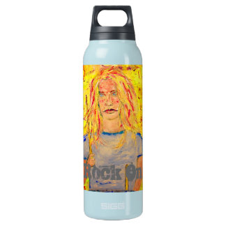 Cool Drummer Girl rock on Insulated Water Bottle