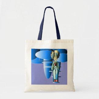 Cool Dude and Blue Ellipses Digital Art Bag