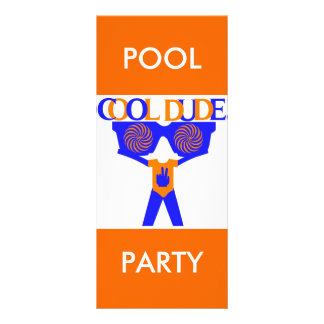 COOL DUDE COMPANY POOL PARTY INVITATION