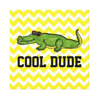Cool Dude Gator Kids Wall Art