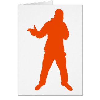 Cool Dude Silhouette Card