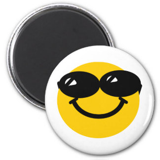 Cool dude smiley 2 inch round magnet