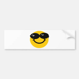 Cool dude smiley bumper sticker