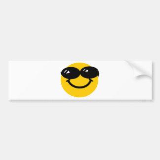 Cool dude smiley car bumper sticker