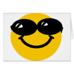 Cool dude smiley card