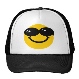 Cool dude smiley trucker hat