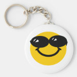 Cool dude smiley keychains