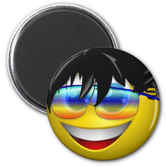 COOL DUDE SMILEY REFRIGERATOR MAGNET
