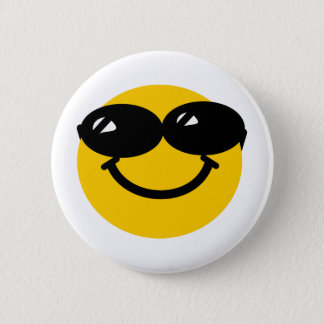 Cool dude smiley pinback button