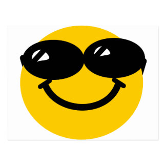 Cool dude smiley postcard