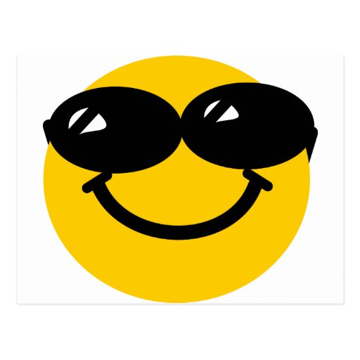 Cool dude smiley postcards